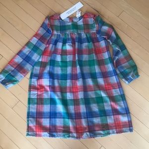 NWT Gymboree girls long sleeve plaid nightgown